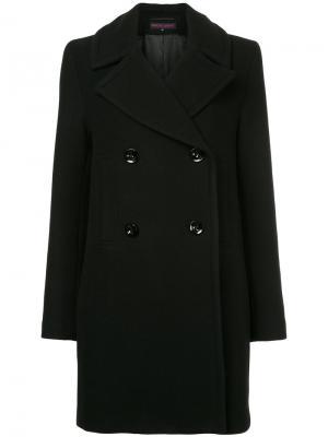 Двубортное пальто Martin Grant. Цвет: чёрный