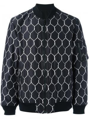 Куртка-бомбер с рисунком Undercover. Цвет: чёрный