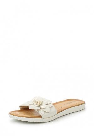 Шлепанцы Damerose. Цвет: белый