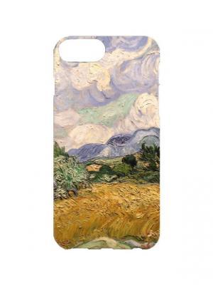 Чехол для iPhone 7Plus Ван Гог - Пшеничное поле с кипарисами Арт. 7Plus-175 Chocopony. Цвет: голубой, коричневый