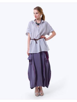 Блузка LO. Цвет: светло-серый