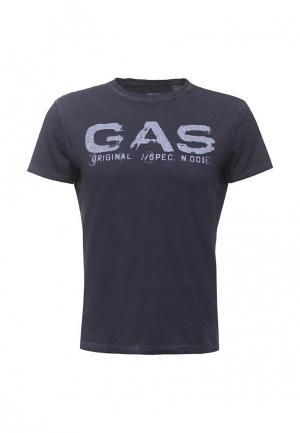 Футболка Gas. Цвет: синий
