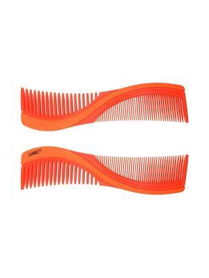 Расческа для волос  двухстороняя CLARETTE. Цвет: оранжевый