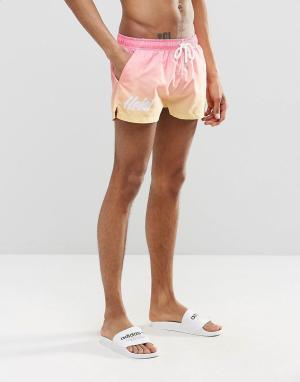 Heist Короткие шорты для плавания. Цвет: розовый