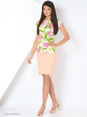 Туника Femme. Цвет: белый, салатовый, розовый