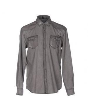 Джинсовая рубашка IMB I'M BRIAN. Цвет: серый