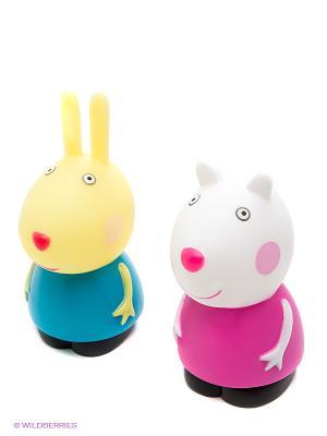 Игровой набор Сьюзи и Ребекка пластизоль Peppa Pig. Цвет: голубой, желтый, белый
