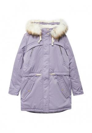Куртка утепленная Alpex. Цвет: фиолетовый