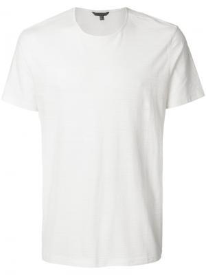 Классическая футболка John Varvatos. Цвет: телесный
