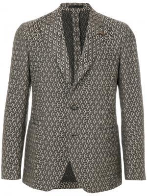 Пиджак с геометрическим узором Gabriele Pasini. Цвет: коричневый
