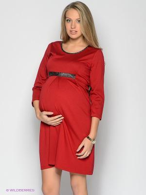Платье EUROMAMA. Цвет: красный