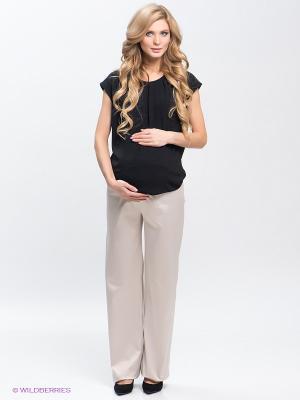 Брюки для беременных 40 недель. Цвет: светло-бежевый