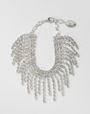 Krystal Браслет с кристаллами Swarovski от London. Цвет: серебряный