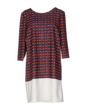 Короткое платье LOU LONDON. Цвет: темно-синий