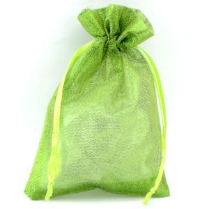 Подарочный мешочек УП-240 Бусики-Колечки. Цвет: зеленый