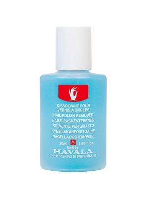 Жидкость для снятия лака Голубая с минимальным содержанием ацетона 50ml Mavala. Цвет: голубой