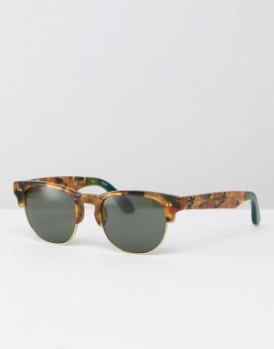 Toms Солнцезащитные очки в стиле ретро Lobamba. Цвет: коричневый