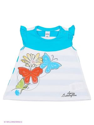 Платье Wojcik. Цвет: белый, голубой