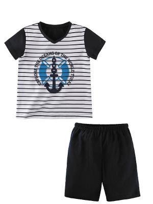 Комплект одежды Наша Мама. Цвет: синий, белый
