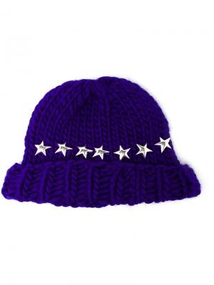 Knitted Star Beanie Hat Wool And The Gang. Цвет: синий