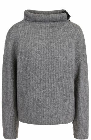 Шерстяной свитер с контрастными заплатками Rag&Bone. Цвет: серый