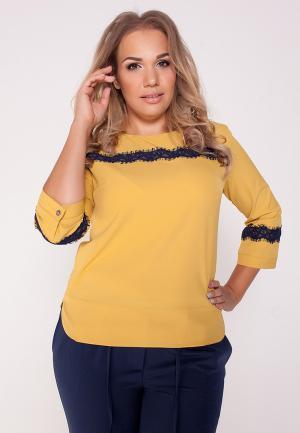 Блуза Eliseeva Olesya. Цвет: желтый