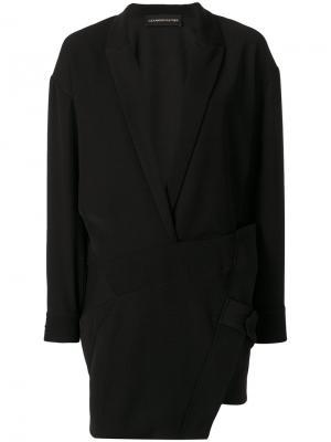 Асимметричное платье Alexandre Vauthier. Цвет: чёрный