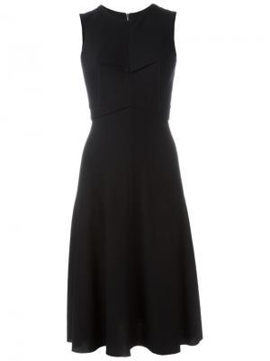 Приталенное платье без рукавов Ma+. Цвет: чёрный