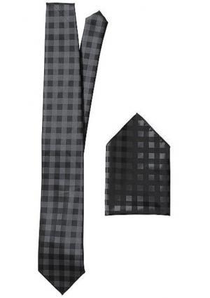 Комплект: галстук + платок. Цвет: ягодный