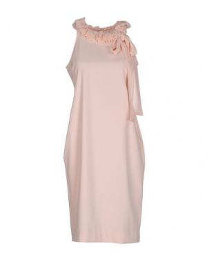 Платье до колена LES SOEURS. Цвет: светло-розовый