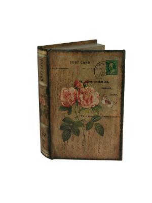 Шкатулка-фолиант Открытка 26*17*5см Русские подарки. Цвет: светло-коричневый, темно-бежевый