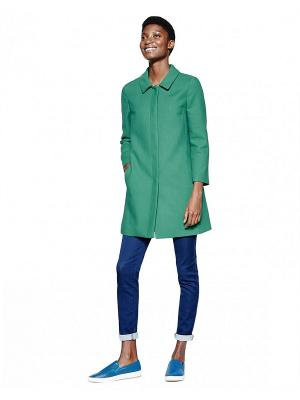 Плащ United Colors of Benetton. Цвет: серо-голубой, темно-зеленый