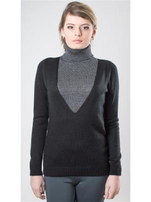 Пуловер для кормления Мирося. Цвет: черный, серый