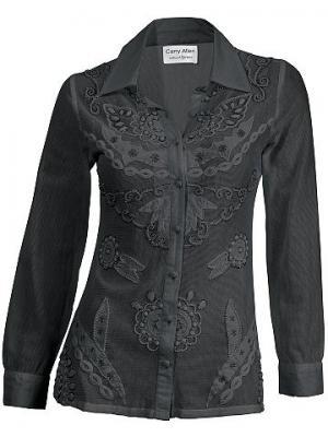Блуза CARRY ALLEN. Цвет: черный