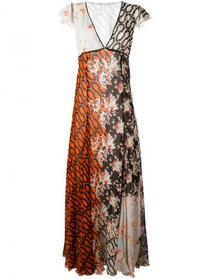 Платье с узором Amen. Цвет: многоцветный