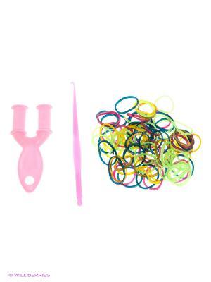 Резинки для плетения Loom Bands. Цвет: желтый, черный, зеленый, коричневый, красный