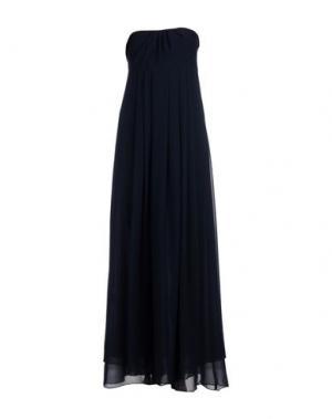 Длинное платье FRANCESCA FERRANTE. Цвет: темно-синий