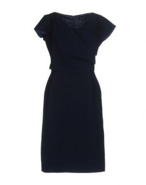 Платье до колена TARA JARMON. Цвет: темно-синий
