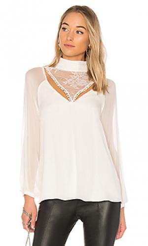 Блузка с длинным рукавом through the looking glass Haute Hippie. Цвет: ivory