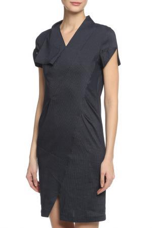 Платье Oblique. Цвет: темно-синий