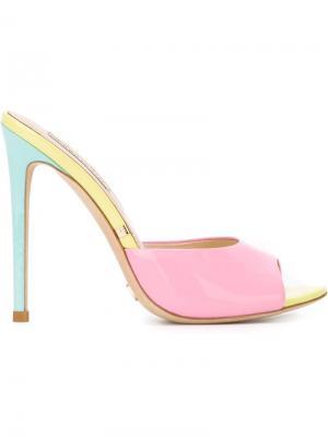 Мюли на шпильках Gianni Renzi. Цвет: розовый и фиолетовый