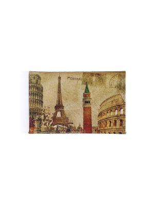 Визитница Postkard Eshemoda. Цвет: светло-коричневый