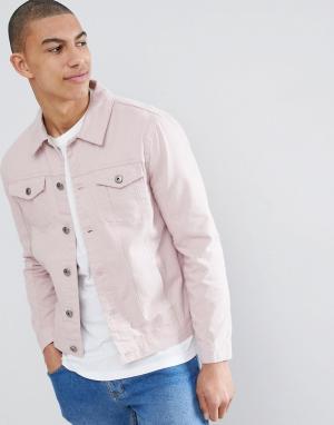 Brave Soul Джинсовая куртка Classic. Цвет: розовый