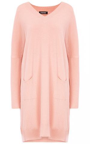 Розовое трикотажное платье La reine blanche