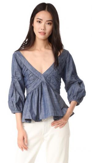 Блуза с Rachel Piamita. Цвет: голубой