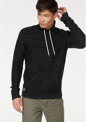 Пуловер JOHN DEVIN. Цвет: серый меланжевый, черный/меланжевый