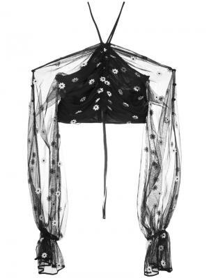 Укороченная блузка Youre the One Alice Mccall. Цвет: чёрный