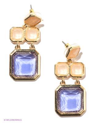 Серьги Milana Style. Цвет: золотистый, фиолетовый, прозрачный