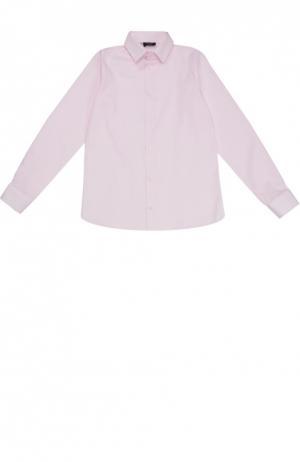 Хлопковая рубашка с воротником кент Dal Lago. Цвет: розовый