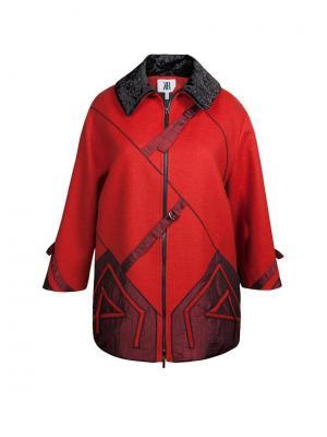 Пальто KR. Цвет: терракотовый